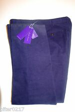 $495 Authentic NWT Ralph Lauren Purple Label Corduroy Pants, Size38, Navy, Italy
