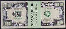 Set of 100 Million Dollar Bills, New, Free Shipping