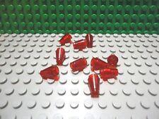 Lego 10 Trans Red 1x1 round cones brick block NEW