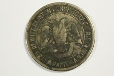 DEWIT-CLINTON CONSISTORY SILVER JUBILEE 1903 GRAND RAPIDS, MICH.SILVER 38.2MM