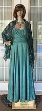NEW Women's WTOO Teal Hues Shimmer Dress ~ Size 12
