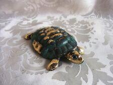 ★ Bronze Figur Schildkröte mit antiker Patina (335-1)