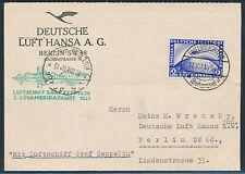 Zeppelin 3. Südamerikafahrt 1931 2 Mark Zeppelin nach Buenos Aires (S13559)