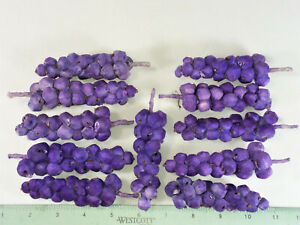 """13 GRAPES- PAPER MACHE STYLE- NEW- 4"""" EACH"""