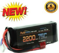 Powerhobby 3S 11.1V 2200mAh 75C Lipo Battery Pack w Deans Plug 3-Cell