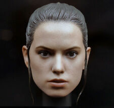 Rey braid Version Head Sculpt Model Fit 1/6 Star Wars Female Figure