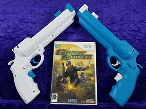 wii GHOST SQUAD + 2 NEW Revolver Light Guns