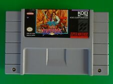 Uncharted Waters:  New Horizons, Super Nintendo SNES, Authentic, Tested