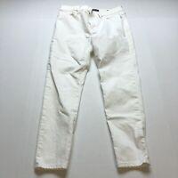 Banana Republic Premium Denim White Skinny Jeans Sz 30 A2213