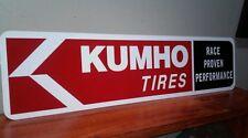 "KUMHO TIRES ALUMINUM SIGN 6"" X 24"""