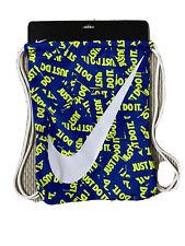 Last One New!! Nike Just Do It Drawstring Gym Bag Blue/Green