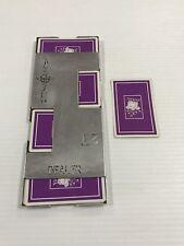 Vintage Bridge Casino Dealer Metal Shoe With All 52 Cards Purple King Ships Fast