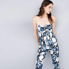 NWT Size 6 CUE Floral Satin Strapless Bustier Corset Top Blouse Dress Shirt $239
