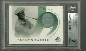 2002 SP Game Used Front 9 Fabric Byron Nelson #BN Relic Game Used BGS 9 9.5 MINT