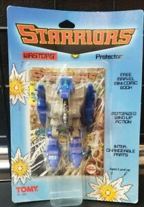 Vintage 1984 TOMY Starriors CUT-UP Action Figure Wind-up  MOSC