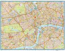 central london super scale map by a z maps wall map paper