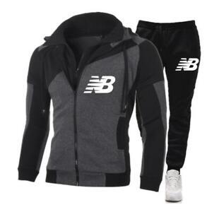 2020 New Brand Men Tracksuits Outwear Hoodies Zipper Sports Suit Sets Male Sweat