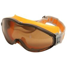 UVEX Ultrasonic 9302.247 Safety Goggles Anti Mist Scratch Orange Grey BROWN Lens