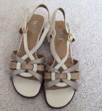 Ladies Hotter Comfort Concept Beige Sandals - 'Picasso' - Size UK 4 - BNIB