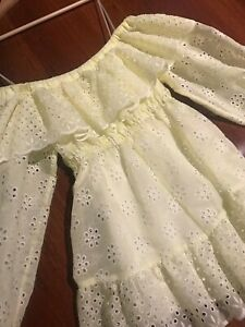 Alice McCall Sample yellow embroidered off the shoulder playsuit romper OOAK