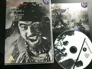 SEVEN SAMURAI (1954) Akira Kurosawa film. BFI. Japanese. UK R2 DVD  Like New