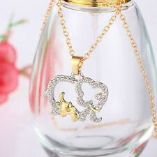 Cute Chain Rhinestone Elephant Pendant Animal Necklace Fashion Jewelry For Gifts