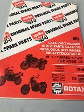 Aprilia catalogue pièces détachées tuareg red rose AF1 125 moteur Rotax 123 1988