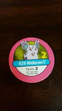Pokemon Master Trainer Game #29 Nidoran Female Pink Pog Playing Chip Pog 1999