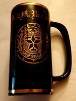 Vintage Texas A&M Skinny Mug Cup Souvenir Gold Logo Student Memorial Center