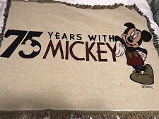 "Mickey Mouse Blanket Throw 46"" X 55"" Walt Disney Co. Jacquard VGC"