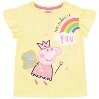 Peppa Pig T-Shirt | Girls Peppa Pig Short Sleeve Top | Kids Peppa Pig Tee