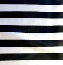 """Black and White Striped Satin Fabric 1 Inch Stripe 60"""" By The Yard Light Weight"""