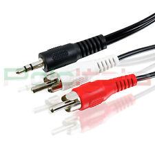 Cavo 1,5m audio da JACK 3,5mm Aux a 2 RCA maschio doppio Y stereo pc auto radio