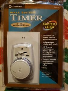 NEW - INTERMATIC Wall Switch Timer 120 Volt 24 Hour Programmable Model EJ351C