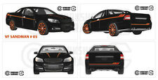 Holden VF - SANDMAN UTE BLACK / ORANGE RIMS #05- Sticker 4 MEDIUM STICKERS