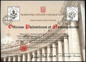 Vatikan Vatican 2012 Block 39 Restaurierung der Kolonnaden Gestempelt