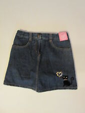 Girls Gymboree Glamour Kitty denim skirt size 8 New with tags