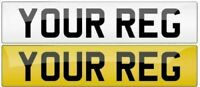 FRONT Plain Standard MOT UK Road Legal Car Van Reg Registration Number Plate