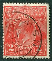 AUSTRALIA 1922 2d bright rose-scarlet SG63 used NG King George V KGV #W36