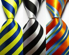 3 pcs New Classic Striped JACQUARD WOVEN 100% Silk Men's Tie Necktie