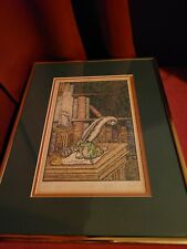 "Vtg Limited edition signed print by Hilary Zabel ""Untitled"" '82 Dragon fantasy"