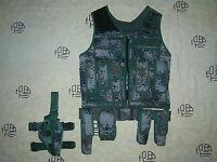 07's series China PLA Army Woodland Digital Camo Combat Tactical Vest,Set,A