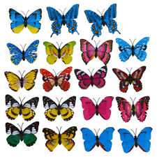 20pcs 7cm 3D Artificial Butterfly Pin C Double Wing for Home Christmas Wedd A4Q2