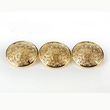 12PCS Vintage Floral Carving Round Shank Buttons Coat 15mm 18mm 20mm 23mm 25mm