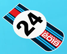 LE MANS 24 HOURS 2019 PAIR of 'Martini Colours 24' stickers decals 200mm tall