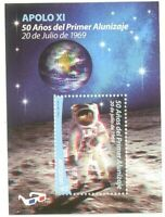 Uruguay 2019 SPACE APOLLO 11 MOON LANDING 50th ANNIVERSARY ASTRONAUTS 3D SHEET