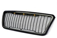 For 04-08 Ford F150 Raptor Style Glossy Black Front Grille Conversion With LED
