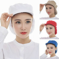 New Catering Cap Factory Worker Adjustable Mesh Snood Hat Dustproof Head Cover