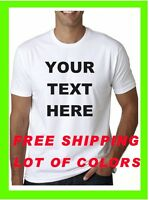 BUY a Custom Personalized T Shirt -Your TEXT- PRINT ON CHEST