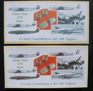 2x4 Classic Plane - Lockheed Constellation C-69 / 049 Engines- 1:72 Resin CPC 03